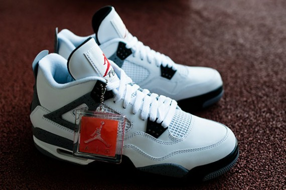 air jordan 4 white cement for sale